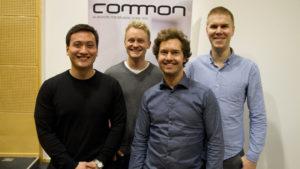 Benjamin Borgen Ha, Petter Johansson, Anders Nesbakken og Thor Olaf Klemsdal fra Fremtind mener det er viktig å ha en arena for å møte andre utviklere på IBM i-plattformen. Foto: Lars Ovlien.